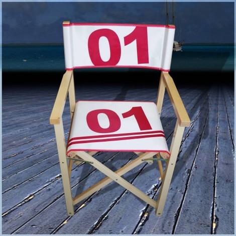 fauteuil mettteur en scene en voile de bateau 01 rouge voilensac. Black Bedroom Furniture Sets. Home Design Ideas