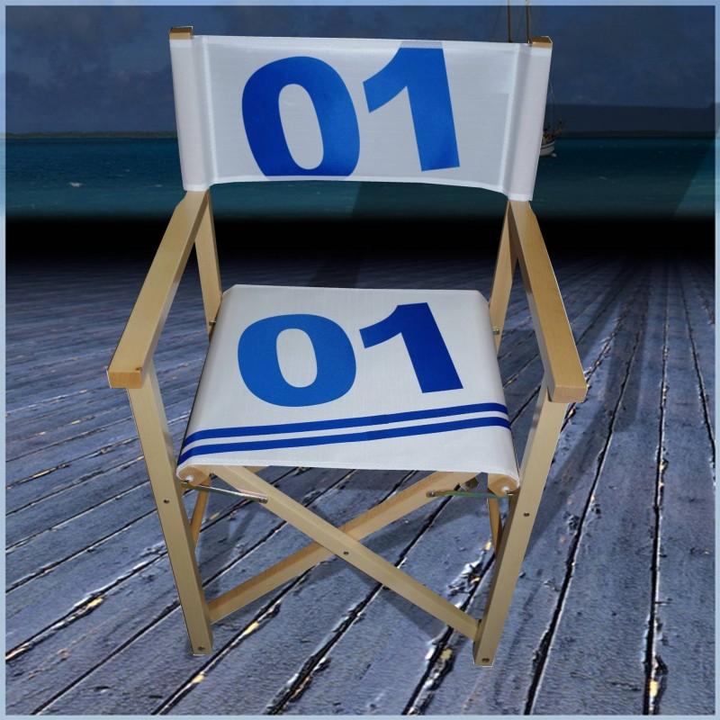 fauteuil mettteur en scene en voile de bateau 01 bleu voilensac. Black Bedroom Furniture Sets. Home Design Ideas