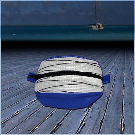 PORTE MONNAIE Diax Bleu en voile de bateau