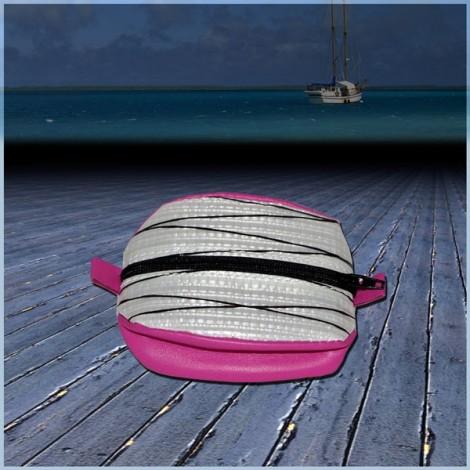 Porte Monnaie Diax Rose en voile de bateau