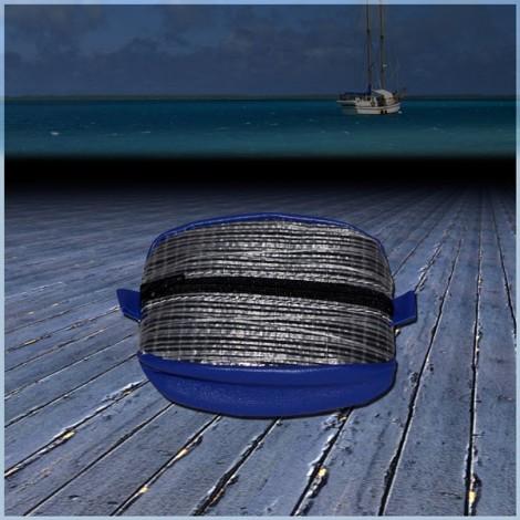 Porte Monnaie Optique Bleu en voile de bateau