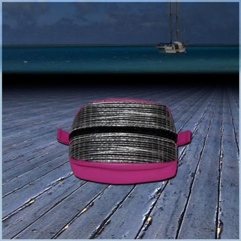 Porte Monnaie Optique rose en voile de bateau