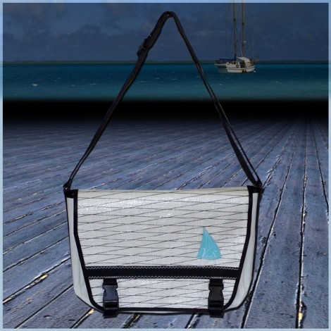 Besace 2015 en voile de bateau logo turquoise