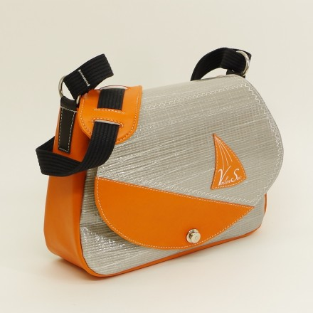 Sac à main modulo gris orange