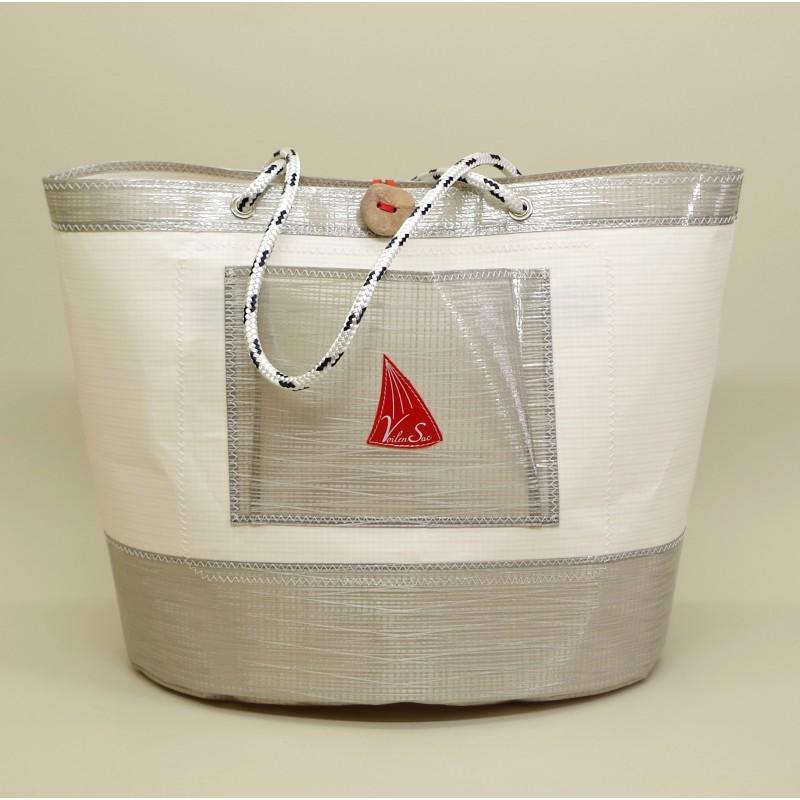 grand sac de plage en tissu voile de bateau. Black Bedroom Furniture Sets. Home Design Ideas