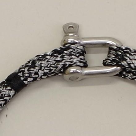 Bracelet Hoël Gris Noir manille inox