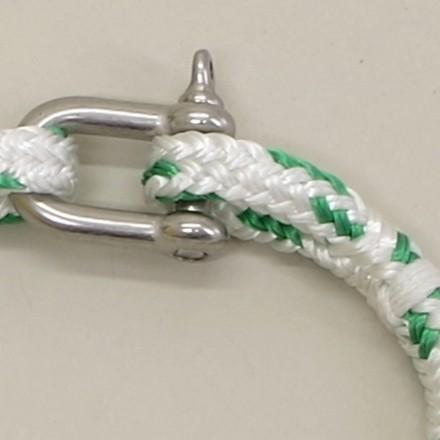 Bracelet Hoël Blanc Vert manille inox