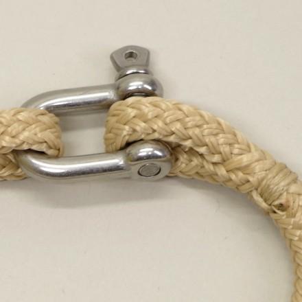Bracelet Hoël Blanc Sable inox