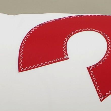 Coussin en voile de bateau 45 cm X 90 cm N° 3 rouge