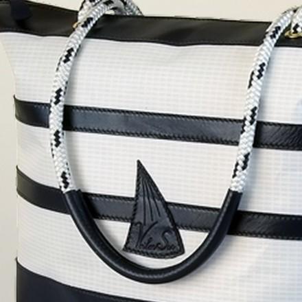 Grand sac à main Christel en voile de bateau