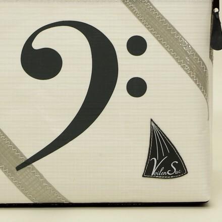 Pochette a partitions en voile de bateau
