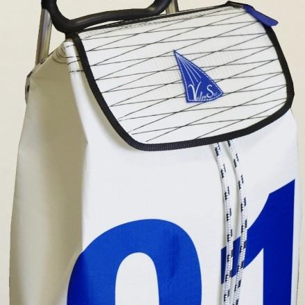Poussette de Plage en voile de bateau 01 bleu
