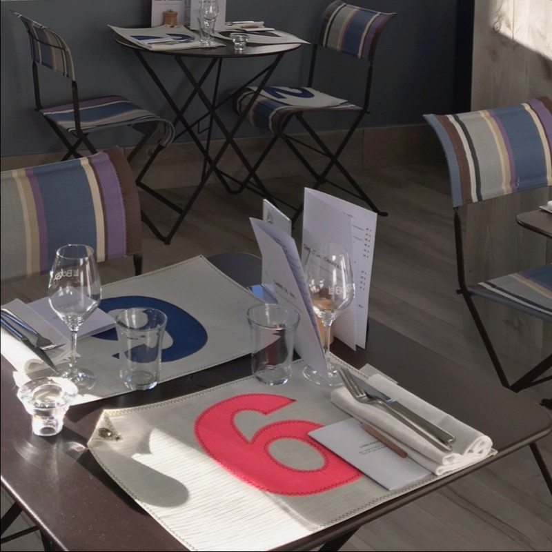 set de table personnalisable en voile de bateau. Black Bedroom Furniture Sets. Home Design Ideas