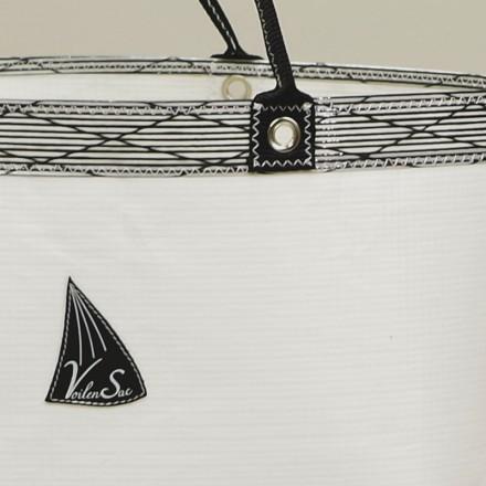 Cabas Ketty Balnc Carbone en voile de bateau