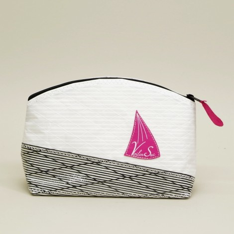 Trousse de Toilette Blanche Carbone Rose L