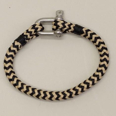 Bracelet manille cordage