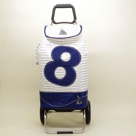 Poussette de marché en voile de bateau 01 bleu
