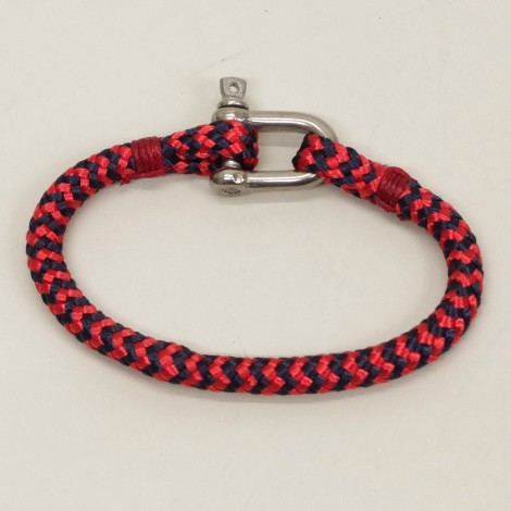 Bracelet Cordage marin Manille inox