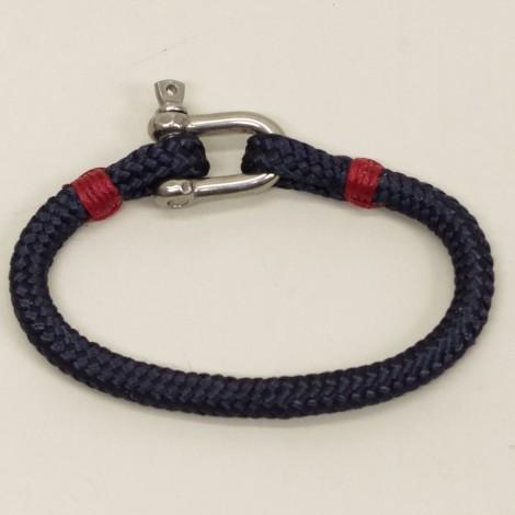 Bracelet Hoël cordage Marine manille inox