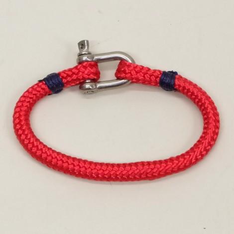 Bracelet Hoël cordage rouge manille inox
