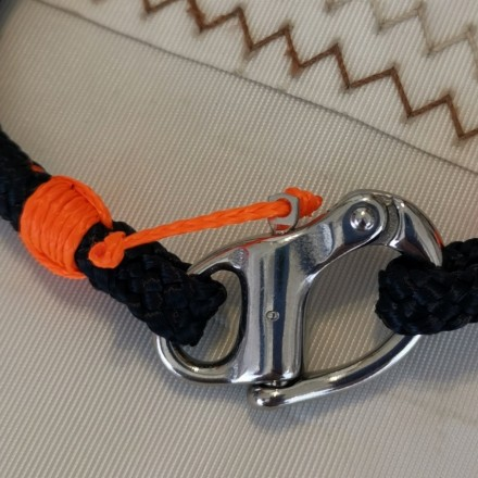 Bracelet N°1 marine orange mousqueton de spi