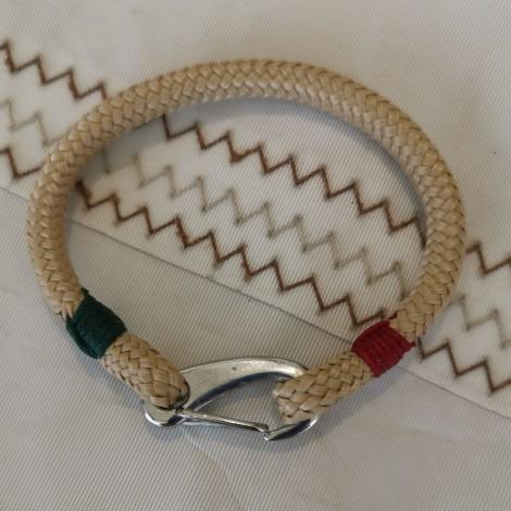 Bracelet Hoël rouge manille inox