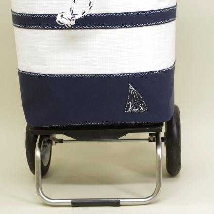 Poussette de marché Marinière en voile de bateau
