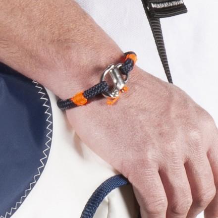 Bracelet N°1 marine orange mousqueton de spi