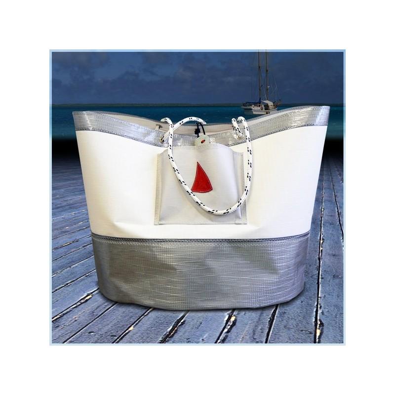 maxi sac de plage en tissu voile de bateau. Black Bedroom Furniture Sets. Home Design Ideas