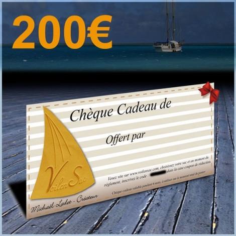 Chèque cadeau de 200€
