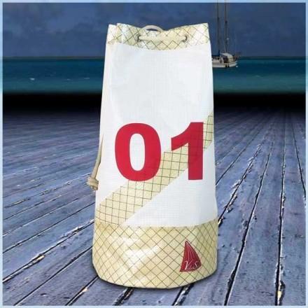 sac marin en voile de bateau 30X60