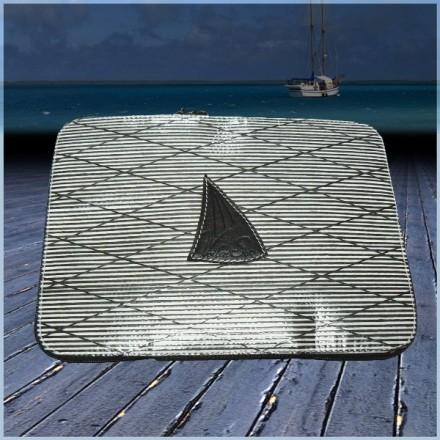 Housse de tablette numérique en voile de bateau logo noir